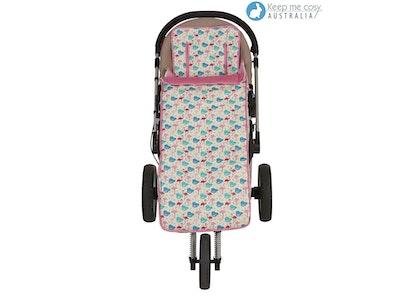 Keep Me Cosy™ Footmuff and Pram Liner 2 in 1 Set (Toddler Size) - Flamingo design