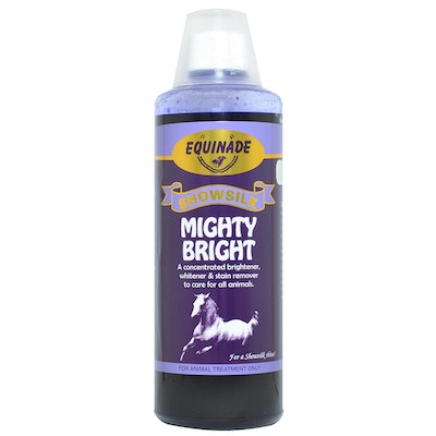 Equinade Showsilk Mighty Bright Horse Coat Whitener & Stain Remover - 3 Sizes