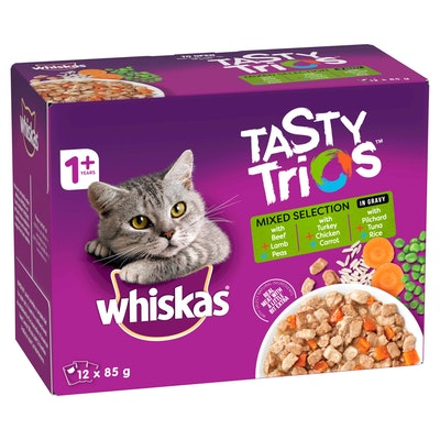 Whiskas Tasty Trios Mixed Selection Wet Cat Food