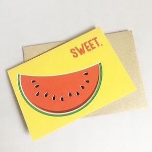 """Sweet"" Watermelon Multi Occasion Card"