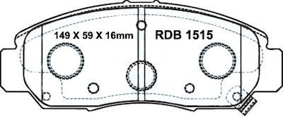 RDA GP MAX FRONT DISC BRAKE PADS for HONDA ACCORD CIVIC - RDB1515