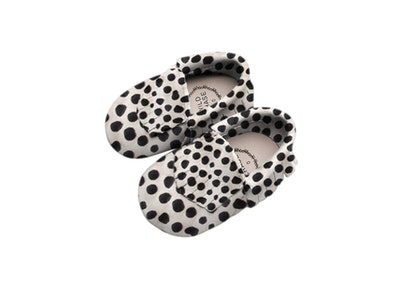 Wildchase Frill Moccasins - B&W Mohair