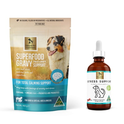 Natural Pet Supplements Stress and Anxiety Kit for Dogs and Cats