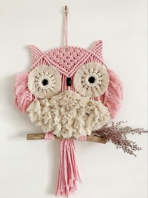Sculptures of the Earth Macramé wall hanging (OWL)