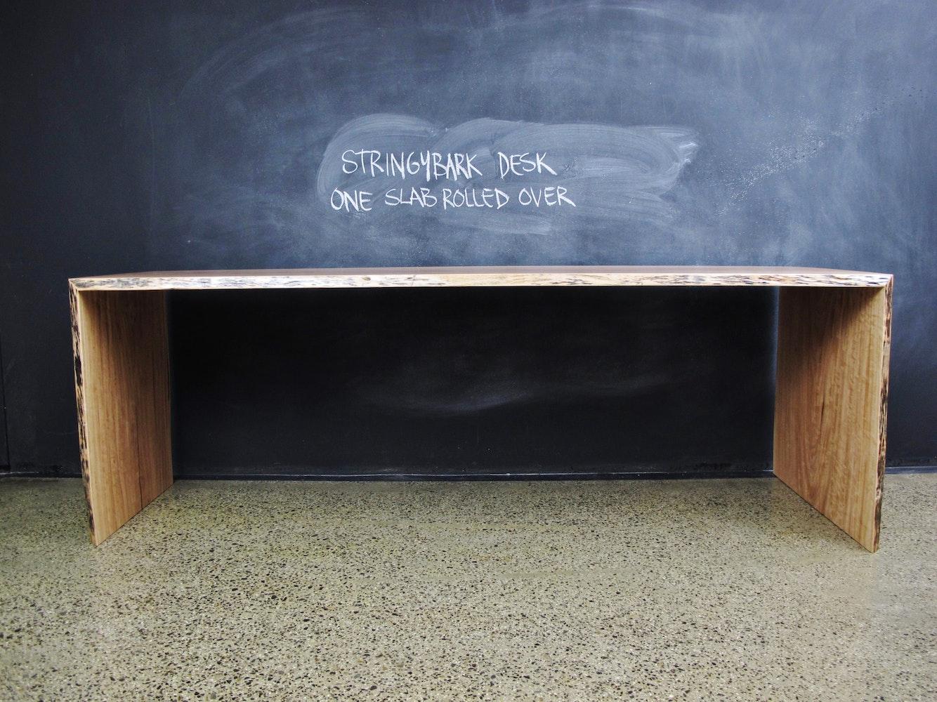 Christian cole furniture stringybark timber desk custom for Unique desks for sale