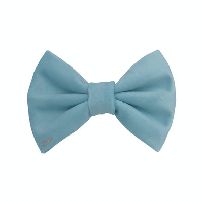 Swanky Paws Aqua Bow Tie
