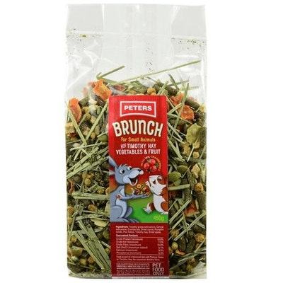 Peters Brunch Mix w/ Timothy Hay Vegetables & Fruit for Small Animals - 2 Sizes