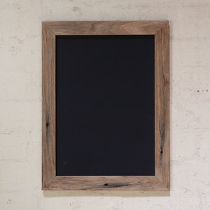 Mulbury Blackboard in Recycled Timber Frame (Natural Style) - A4 Size