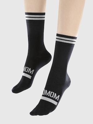 Soomom Reflective Chic Logo Cycling Socks - Black
