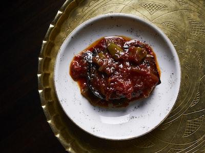 Caramelised and braised eggplant