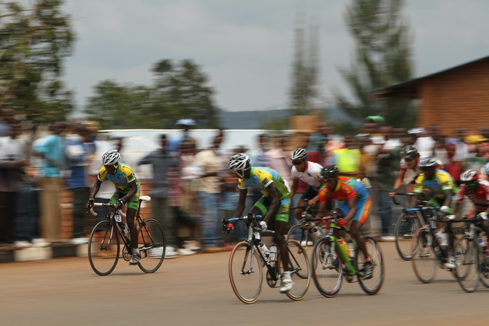 Team Rwanda racing photo courtesy John Russell