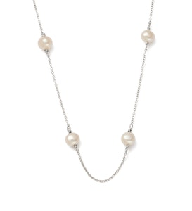 Kirstin Ash Moon Tide Pearl Necklace Sterling Silver