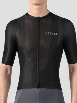 Soomom Men's Lightweight Cycling Jersey - Black