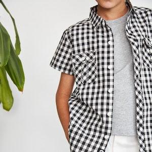 Black and White Gingham Shirt