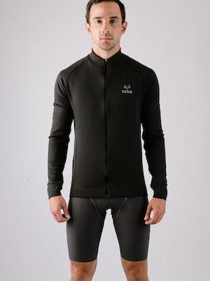 Taba Fashion Sportswear Chaqueta Ciclismo Hombre Afelpada Negra