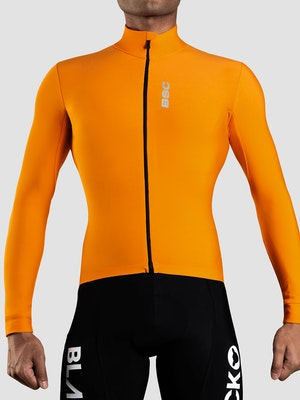 Black Sheep Cycling Men's Elements LS Thermal Jersey - Orange