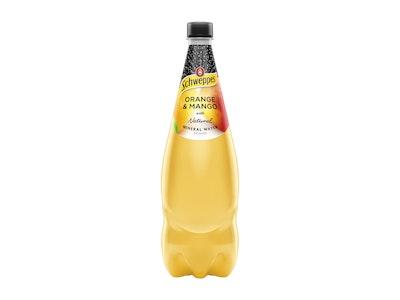 Schweppes Orange Mango Mineral Water 1.1L