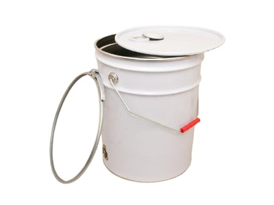 Empty 20Lt Drum and Lid with Metal Bung