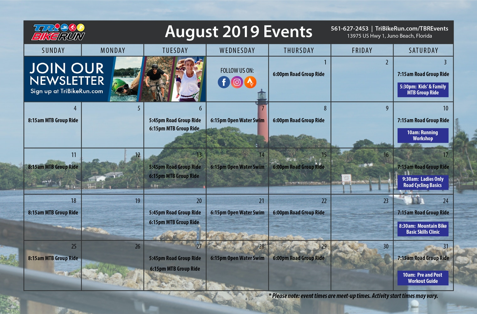 TBR Events August 2019