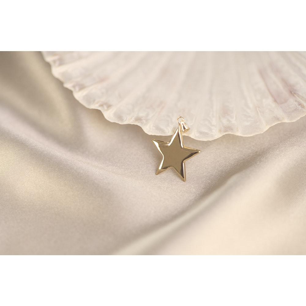Jessica Alice Jewellery 9ct Solid Gold Star Pendant