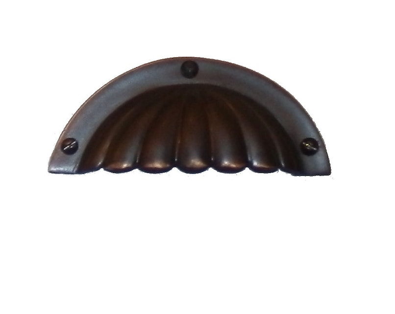 Fluted Bronze Drawer Pull Cabinet Handles For Sale In
