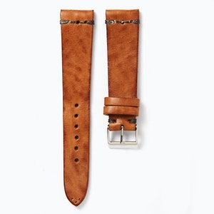 Time+Tide Watches  Natural + Anthracite Stitch Vintage Leather Watch Strap