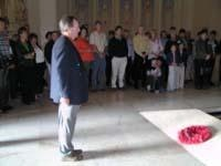Peter Macdonald lays a wreath on the Tomb of the Unknown Soldier