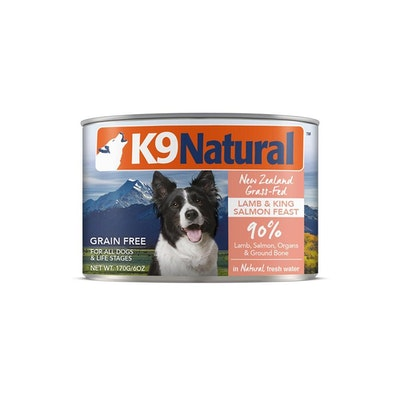 K9 Natural Lamb & King Salmon Feast Canned Dog Food 170G