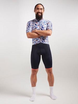 Black Sheep Cycling Men's Essentials TEAM Jersey - Sakura Blue
