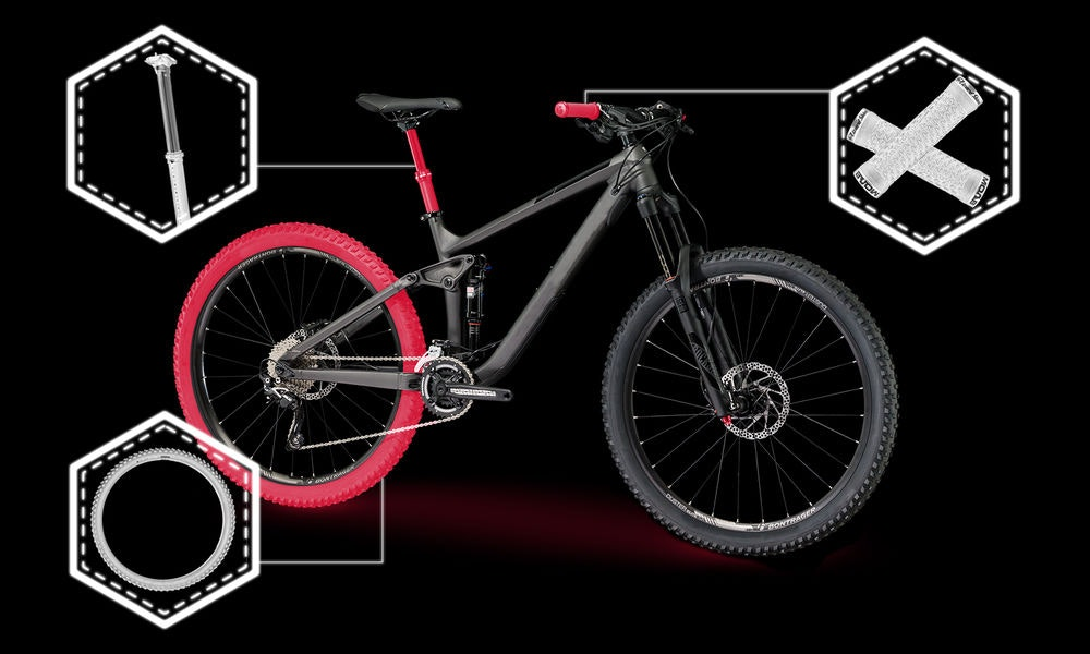 best value mountain bike upgrades grips tyres pedals