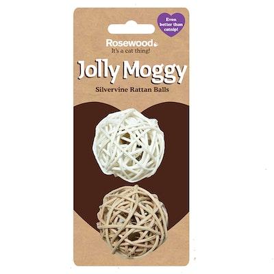 Rosewood Jolly Moggy Rattan Balls