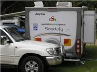 GoSee 23ft Jayco and tug at  Halls Gap Lakeside TP.