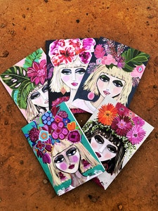 The Spring Girls Greeting Cards Pack of 5