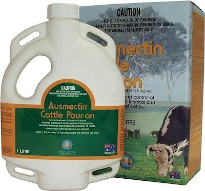 International Animal Health Ausmectin Cattle Pour On Treatment - 3 Sizes