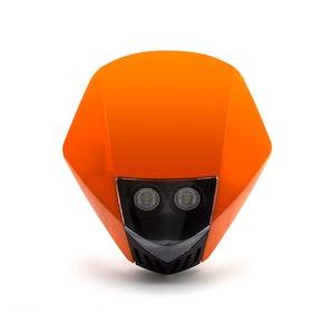 Stealth Supermoto LED Headlight - Orange