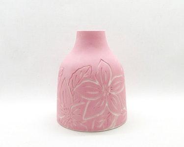 Ceramic Bud Vase - Large - Pink Floral