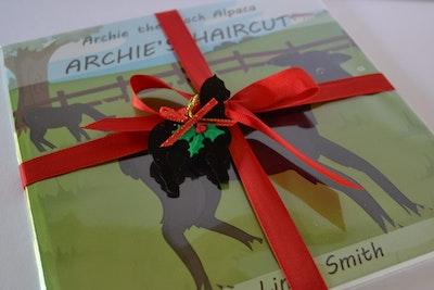 Archie the Black Alpaca Xmas Gift Pack