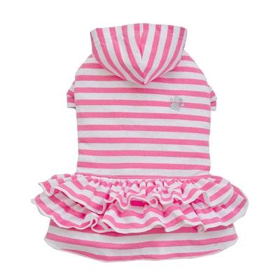 DoggyDolly THICK DOG - Girly Dog Hoody Dress Pink