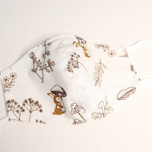 Reusable Cotton Face Mask made from Korean fabric (Child/Adult) - Vintage Botanic