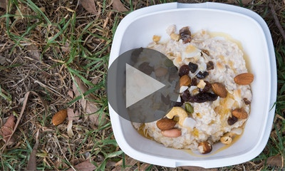 White Chia Porridge Camping Recipe