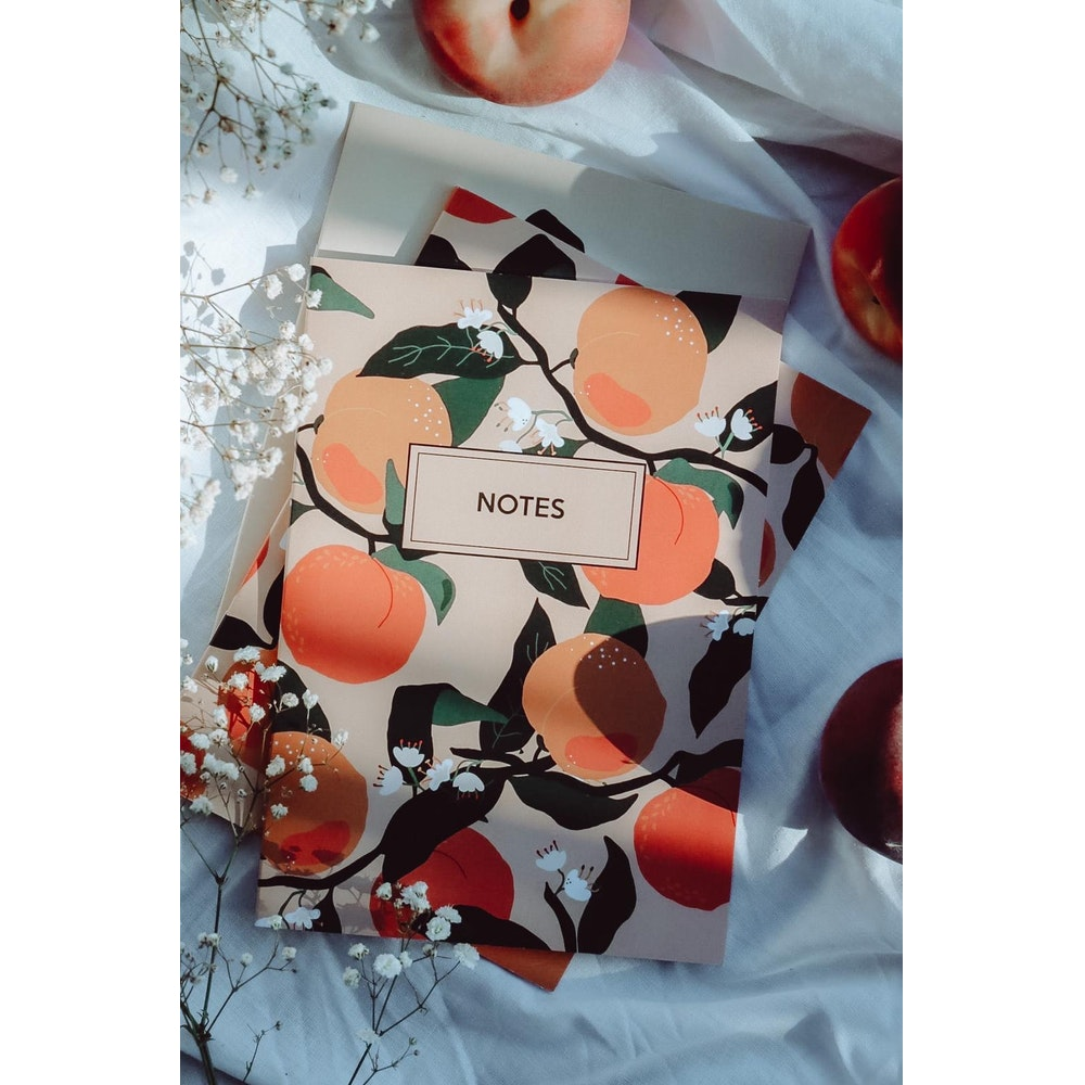 Brew Norfolk A5 Bunches Of Peaches Notebook