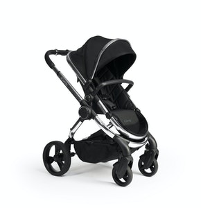 iCandy Peach Pram NEW 2020 - Classic Black twill weave with Phantom Frame