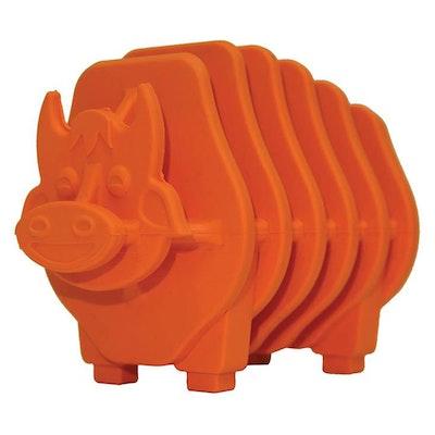 ScreamPet Scream Rubber Puzzle Bull Treat Dispensing Dog Toy Loud Orange 9cm