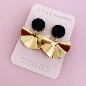PREORDER Golden Fan Earrings
