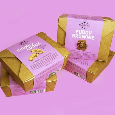 Missy M Sweets Chunky Cookie Box & Fudgy Brownie Box (2 box Combo)