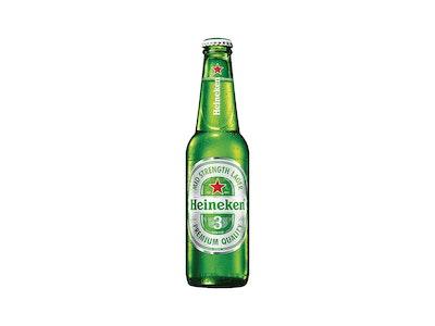 Heineken 3 Lager Bottle 330mL