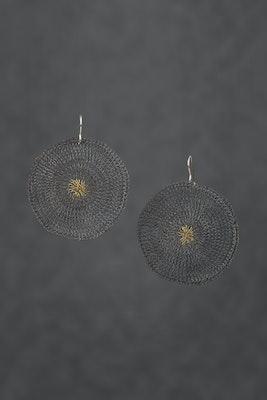 PAMdesigned Bronze Oxidised Round Earrings - Paula Earrings 2020