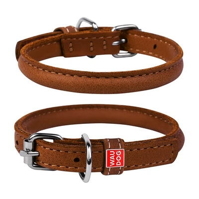 WauDog by the Collar Company Waudog Round Leather collar COLLAR SOFT SERIES  WIDTH 13MM LENGTH 45-53CM