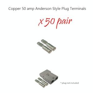 100 x 50 amp Anderson Plug Copper Terminals