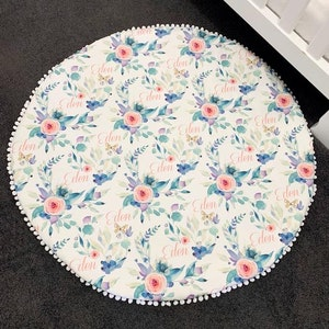 On Chic Baby Clothes Personalised Roses Baby Playmat